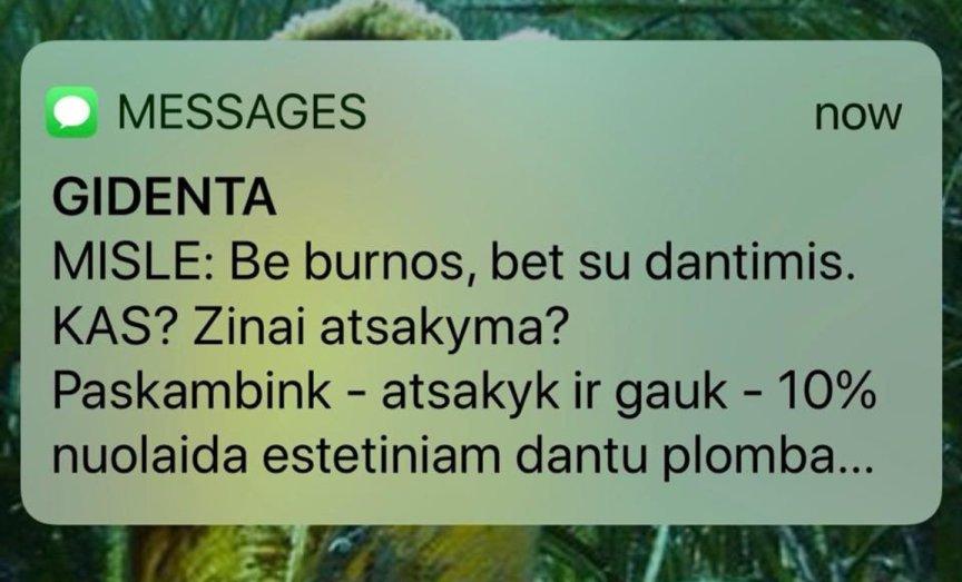 Reklama per SMS. Kokių geriau nesiųsti.